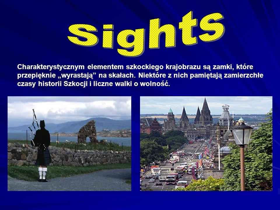 """Charakterystycznym elementem szkockiego krajobrazu są zamki, które przepięknie """"wyrastają na skałach."""