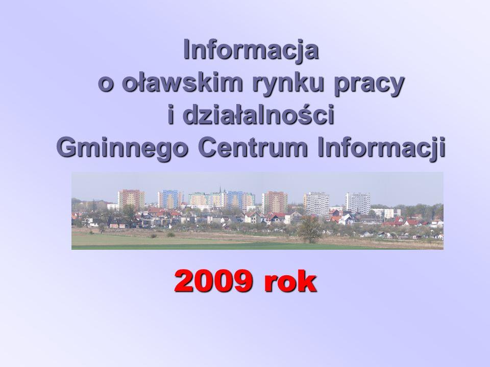 Informacja o oławskim rynku pracy i działalności Gminnego Centrum Informacji 2009 rok