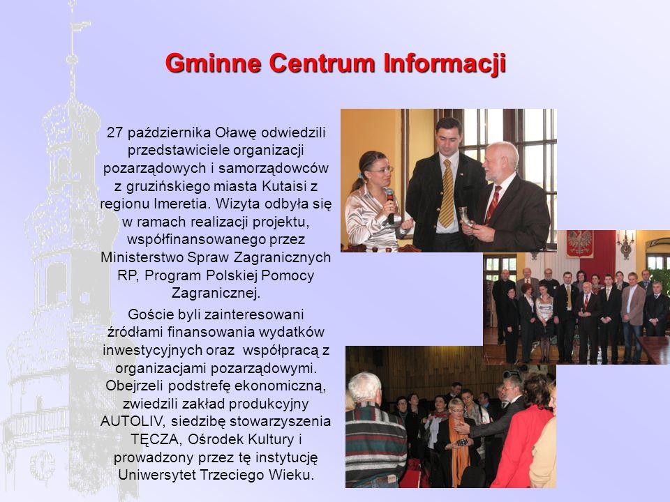 Gminne Centrum Informacji 27 października Oławę odwiedzili przedstawiciele organizacji pozarządowych i samorządowców z gruzińskiego miasta Kutaisi z regionu Imeretia.