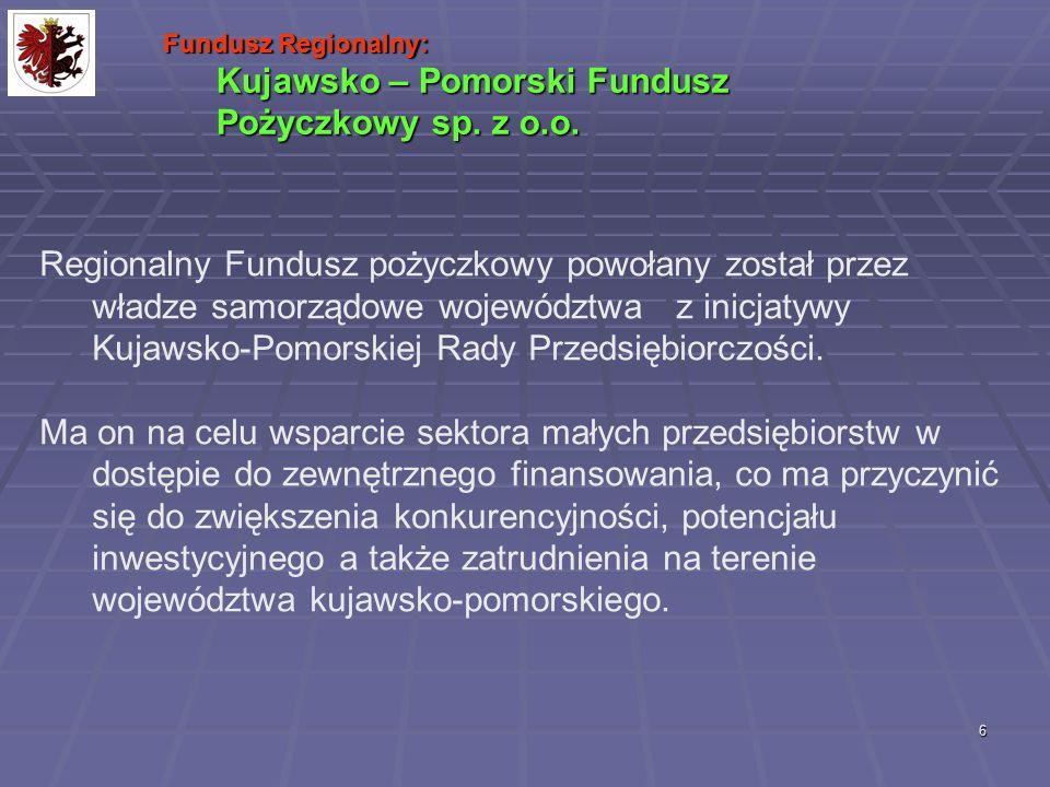 7 Kapitał funduszu: 4 000 000 zł – kapitał zakładowy 8 200 000 zł – dotacja z SPO WKP Kapitał pożyczkowy: 12,2 mln.zł 2 wnioski KPFP o dofinansowanie w ramach działania 1.2.1.