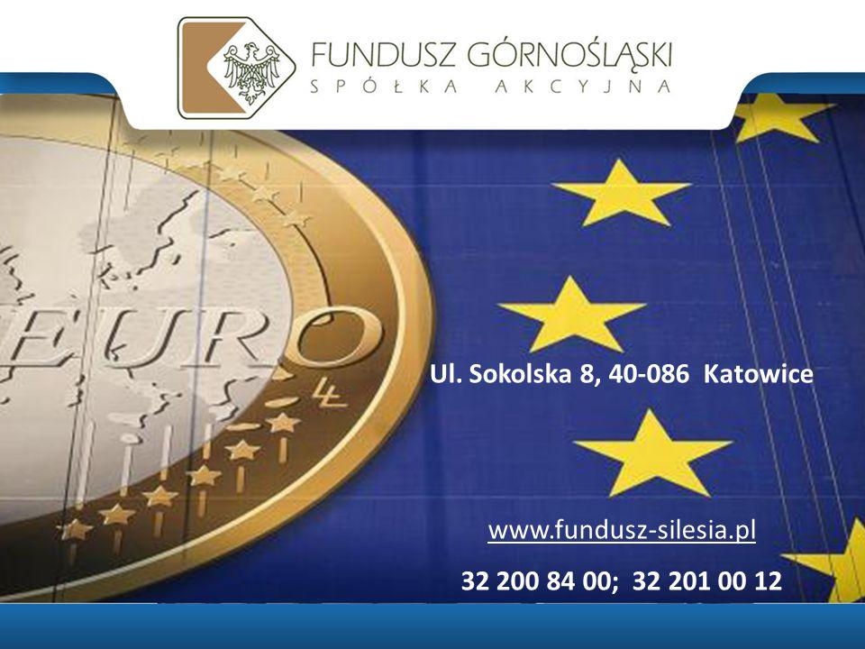 Ul. Sokolska 8, 40-086 Katowice www.fundusz-silesia.pl 32 200 84 00; 32 201 00 12