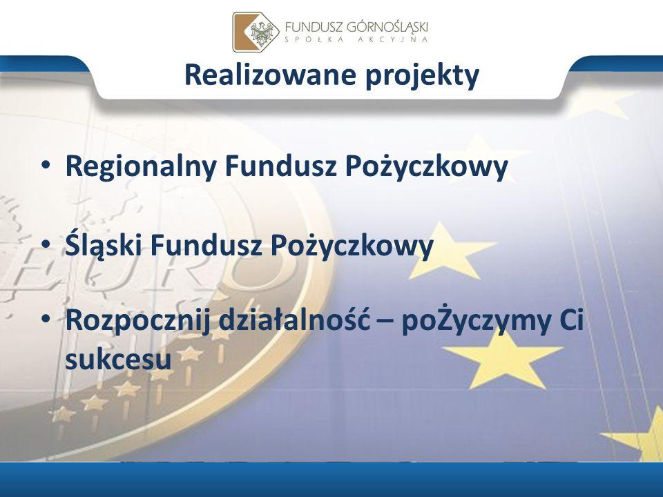Produkty pożyczkowe Funduszu Pożyczki udzielane są: MŚP prowadzącym działalność gospodarczą na terenie woj.: śląskiego, małopolskiego i opolskiego; absolwentom szkoły wyższej, pomaturalnej i średniej rozpoczynającym działalność gospodarczą na terenie województwa śląskiego; mieszkancom wojewodztwa śląskiego planujacym uruchomić działalność gospodarczą na terenie województwa śląskiego 3