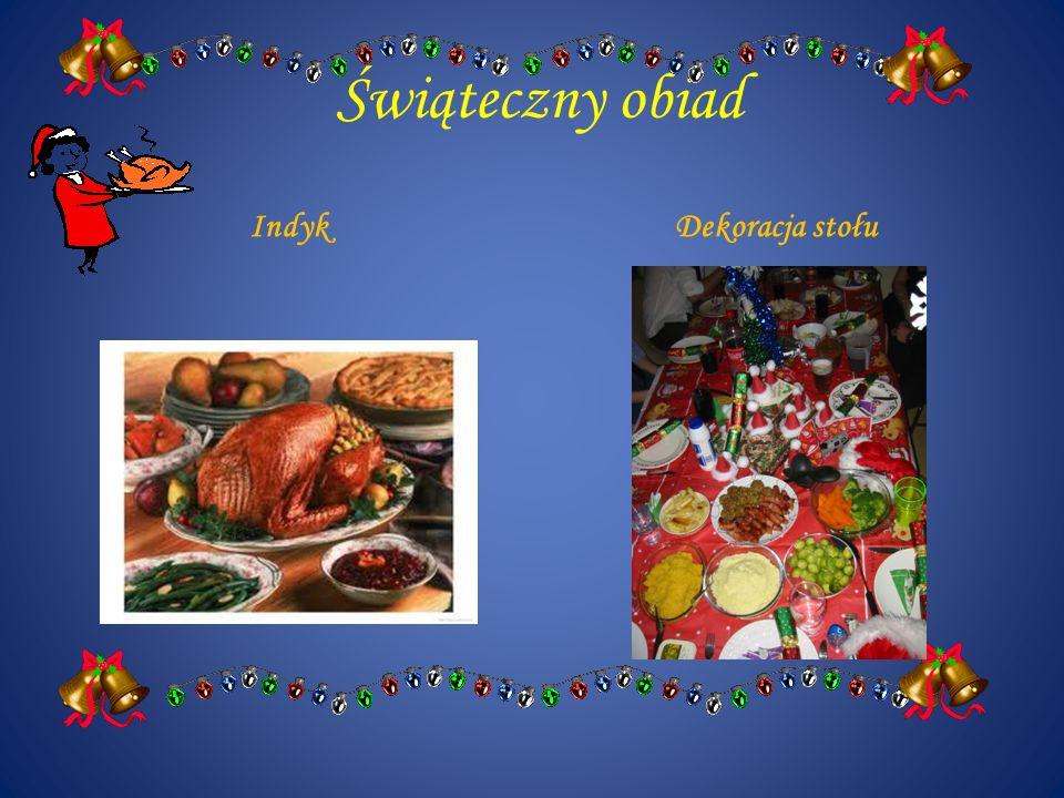 Świąteczny obiad IndykDekoracja stołu