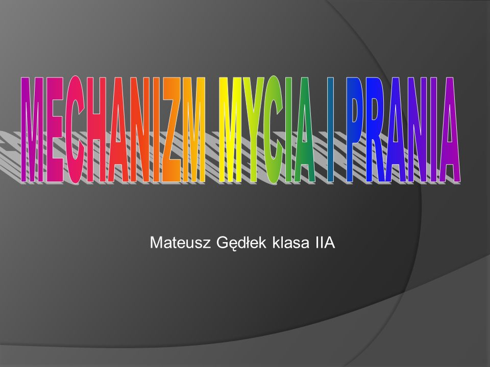 Mateusz Gędłek klasa IIA