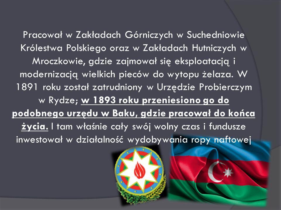 Witold Leon Julian Zglenicki (1850-1904) geolog, nafciarz, ojciec nafty bakijskiej, Polski Nobel. Urodzony 6 stycznia 1850 roku. W czasie studiów post