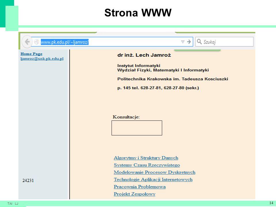 Strona WWW TAI LJ 14