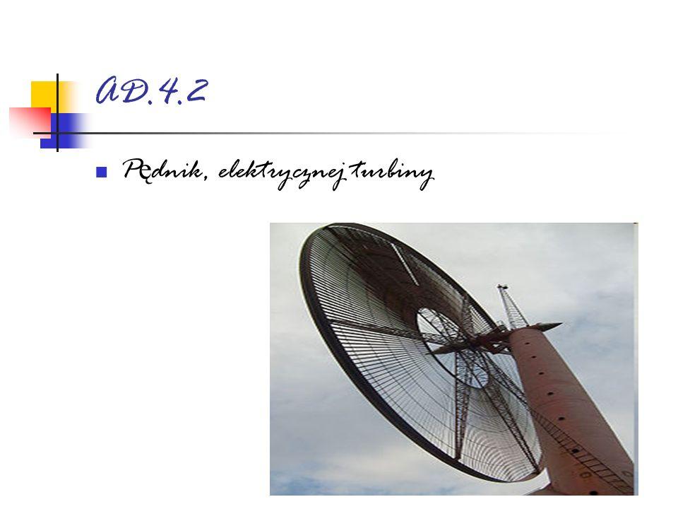 AD.4.2 P ę dnik, elektrycznej turbiny