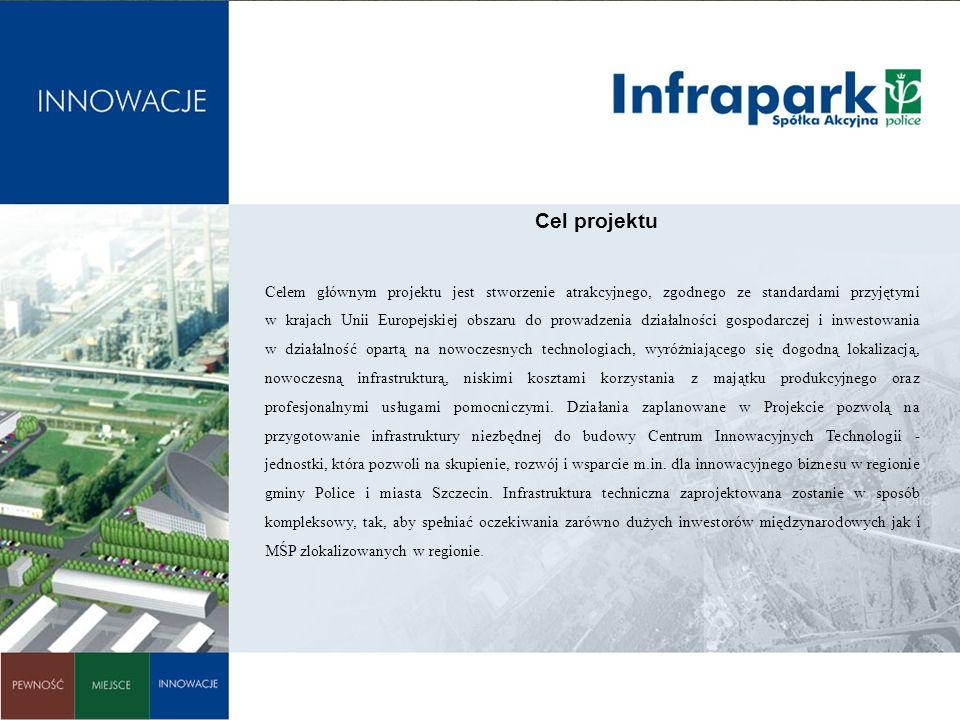 Celem głównym projektu jest stworzenie atrakcyjnego, zgodnego ze standardami przyjętymi w krajach Unii Europejskiej obszaru do prowadzenia działalnośc