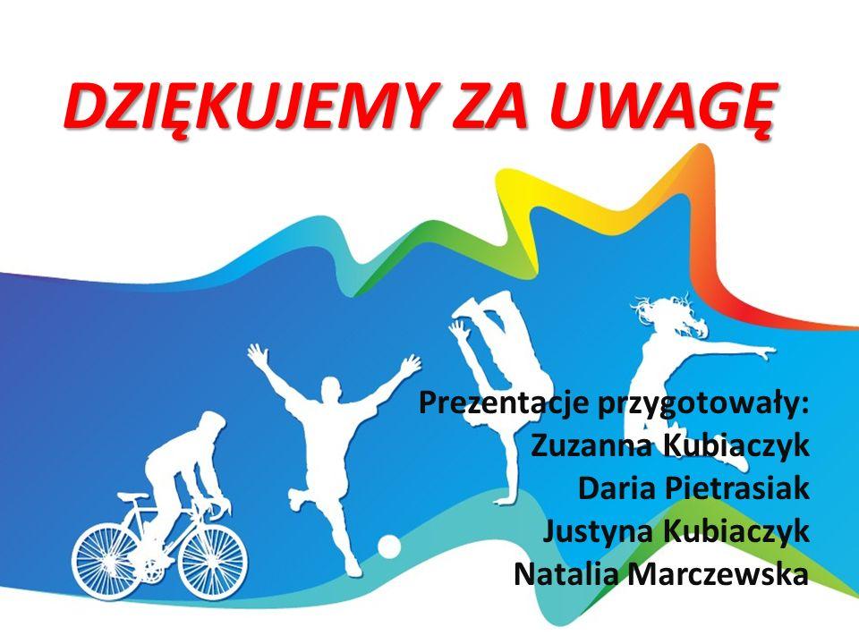 DZIĘKUJEMY ZA UWAGĘ Prezentacje przygotowały: Zuzanna Kubiaczyk Daria Pietrasiak Justyna Kubiaczyk Natalia Marczewska