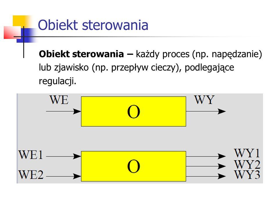 Obiekt sterowania Obiekt sterowania – każdy proces (np.