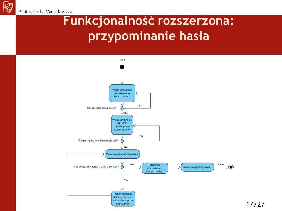 Funkcjonalność rozszerzona: przypominanie hasła 17/27