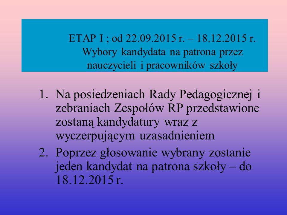 ETAP I ; od 22.09.2015 r. – 18.12.2015 r.