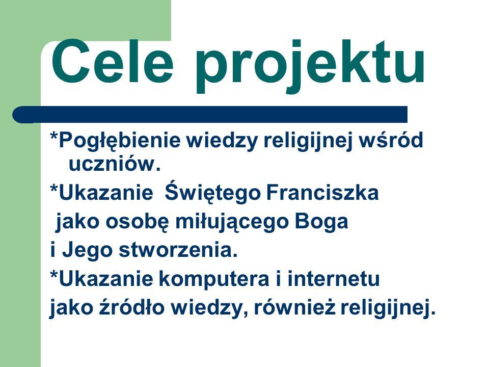 Cele projektu *Pogłębienie wiedzy religijnej wśród uczniów.