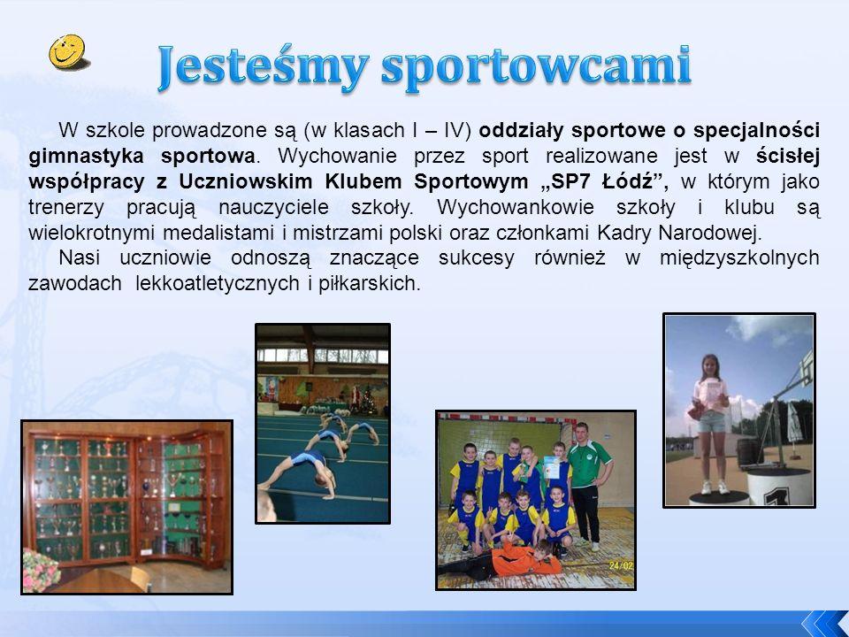 W szkole prowadzone są (w klasach I – IV) oddziały sportowe o specjalności gimnastyka sportowa.