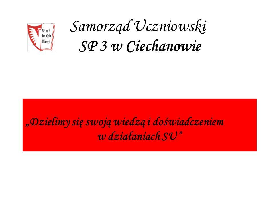 """Samorząd Uczniowski SP 3 w Ciechanowie """"Dzielimy się swoją wiedzą i doświadczeniem w działaniach SU"""