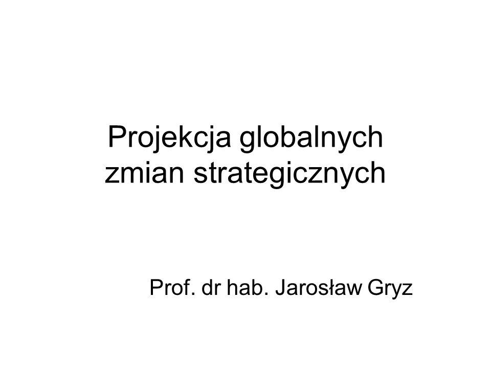 Projekcja globalnych zmian strategicznych Prof. dr hab. Jarosław Gryz