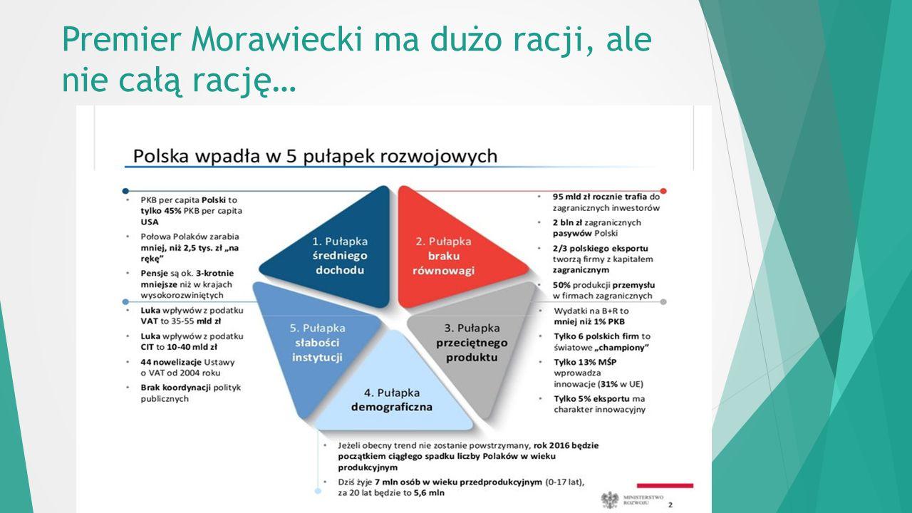 Premier Morawiecki ma dużo racji, ale nie całą rację…