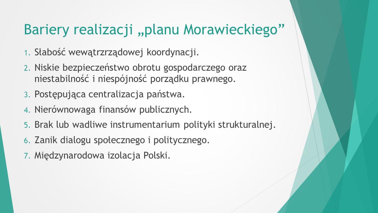 """Bariery realizacji """"planu Morawieckiego 1. Słabość wewątrzrządowej koordynacji."""