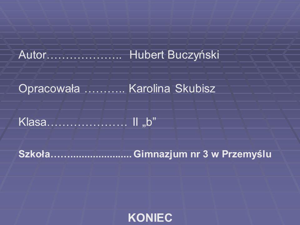 Autor……………….. Hubert Buczyński Opracowała ………..