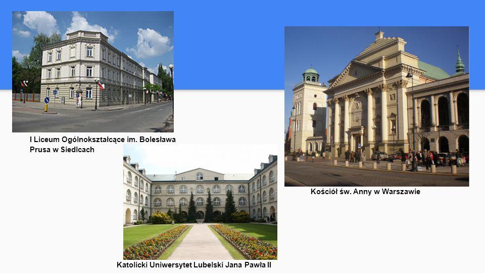 I Liceum Ogólnokształcące im. Bolesława Prusa w Siedlcach Kościół św.