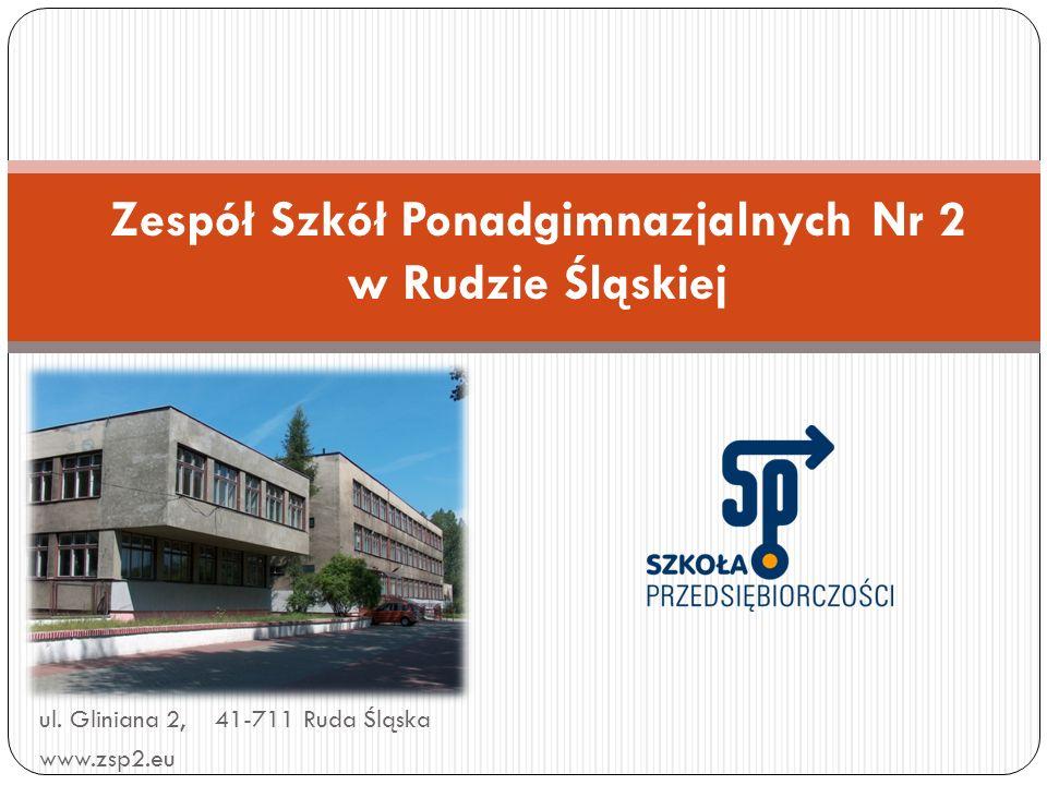 ul. Gliniana 2, 41-711 Ruda Śląska www.zsp2.eu Zespół Szkół Ponadgimnazjalnych Nr 2 w Rudzie Śląskiej