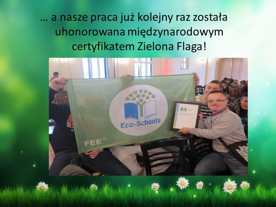… a nasze praca już kolejny raz została uhonorowana międzynarodowym certyfikatem Zielona Flaga!