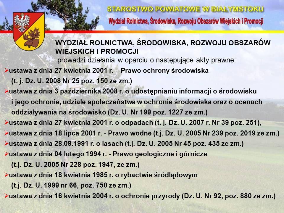  ustawa z dnia 27 kwietnia 2001 r. – Prawo ochrony środowiska (t.