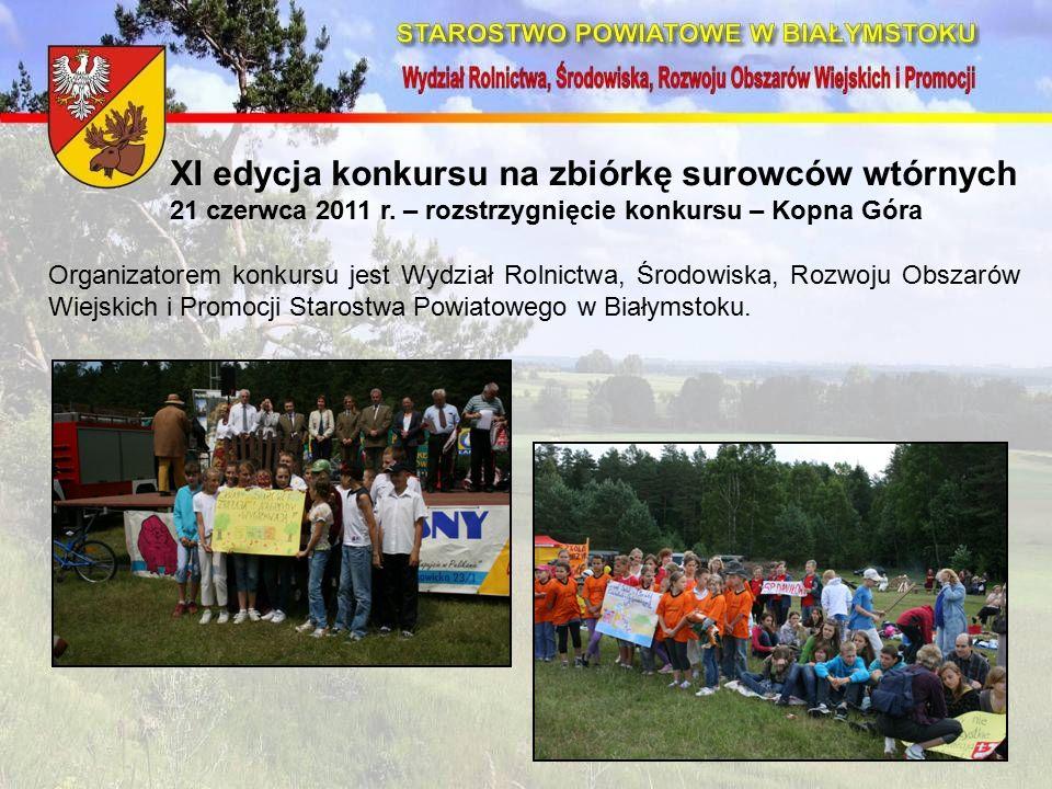 XI edycja konkursu na zbiórkę surowców wtórnych 21 czerwca 2011 r.