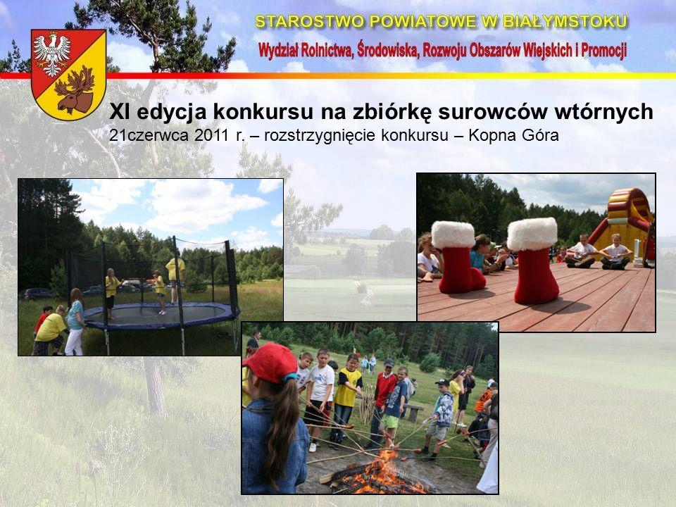 XI edycja konkursu na zbiórkę surowców wtórnych 21czerwca 2011 r.