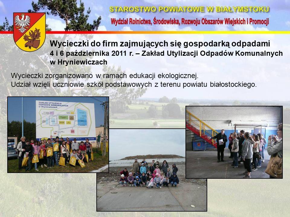 Wycieczki do firm zajmujących się gospodarką odpadami 4 i 6 października 2011 r.