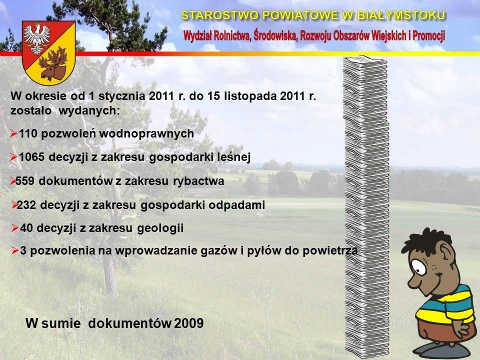 W okresie od 1 stycznia 2011 r. do 15 listopada 2011 r.