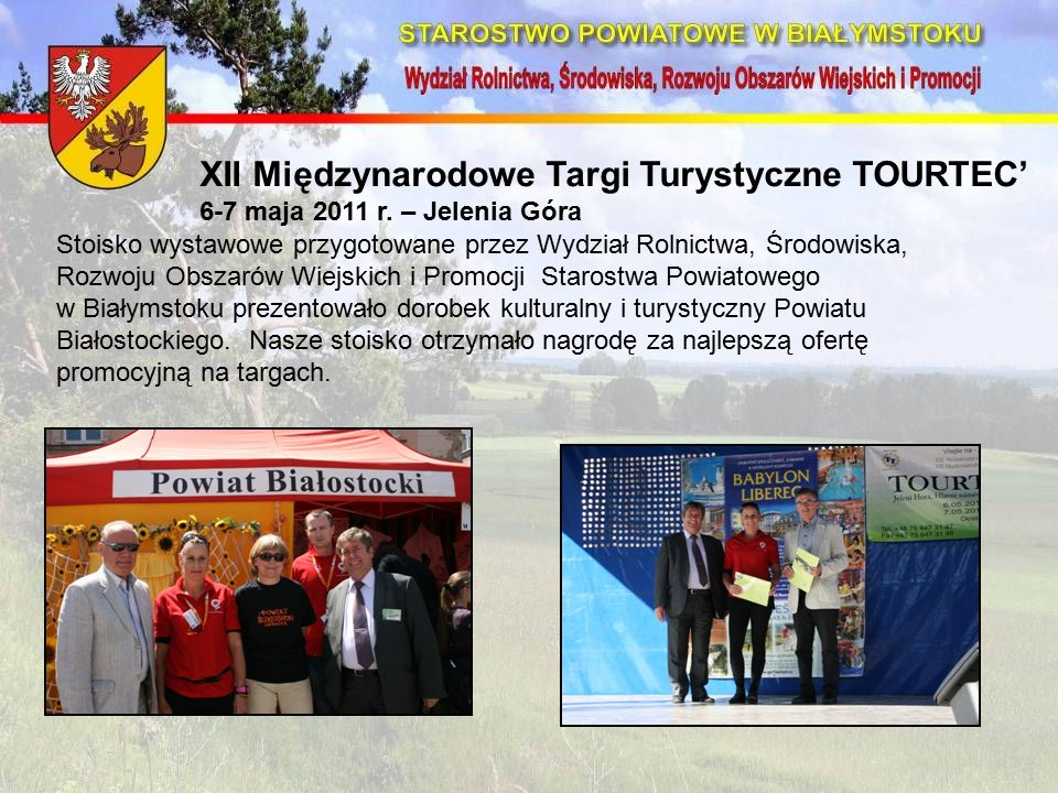 XII Międzynarodowe Targi Turystyczne TOURTEC' 6-7 maja 2011 r.