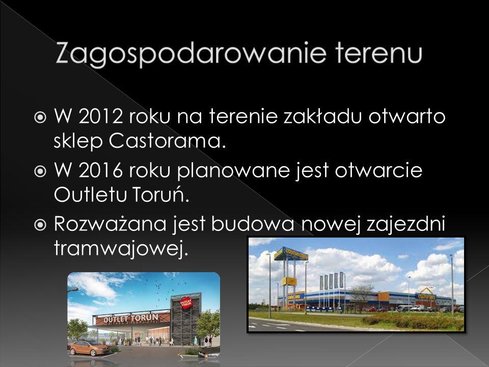  W 2012 roku na terenie zakładu otwarto sklep Castorama.