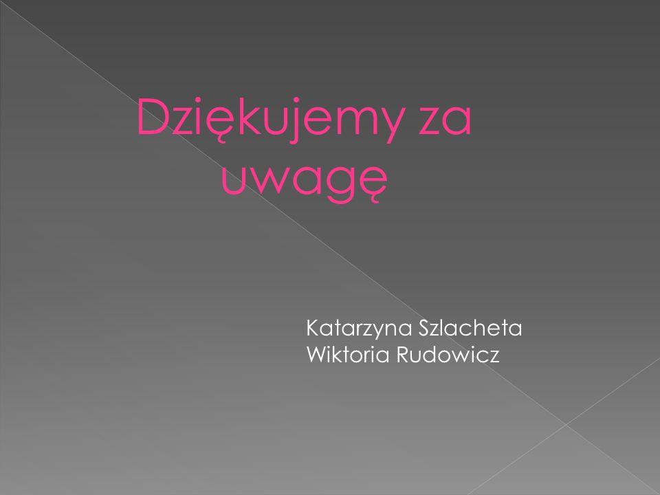 Dziękujemy za uwagę Katarzyna Szlacheta Wiktoria Rudowicz