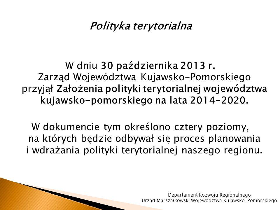 Polityka terytorialna W dniu 30 października 2013 r.