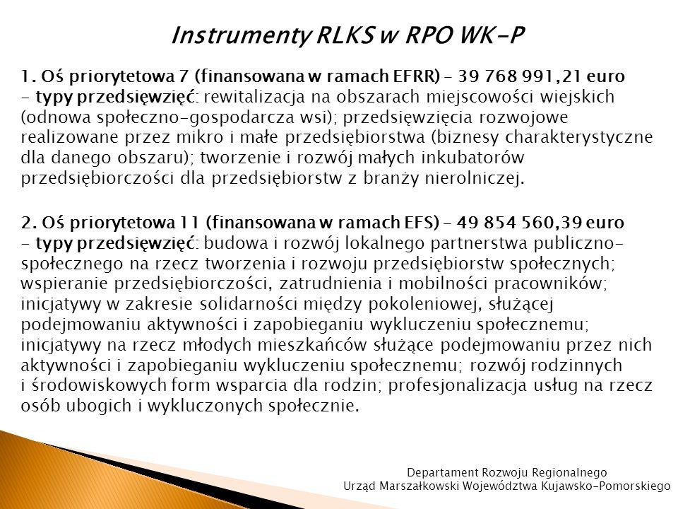 Instrumenty RLKS w RPO WK-P 1.