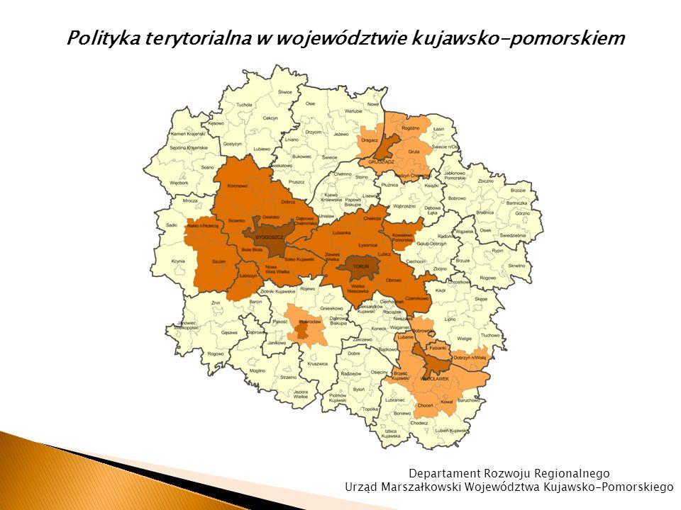 Zasięg terytorialny Obszarów Rozwoju Społeczno-Gospodarczego W dniu 2 lipca 2014 r.