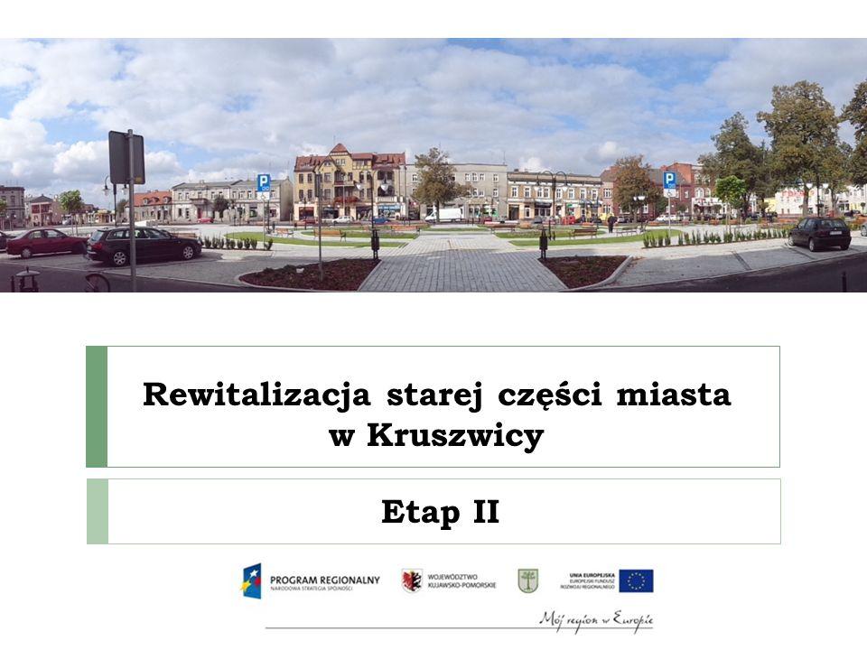Zakres projektu – płyta Rynku wymiana sieci wodociągowej w ul.