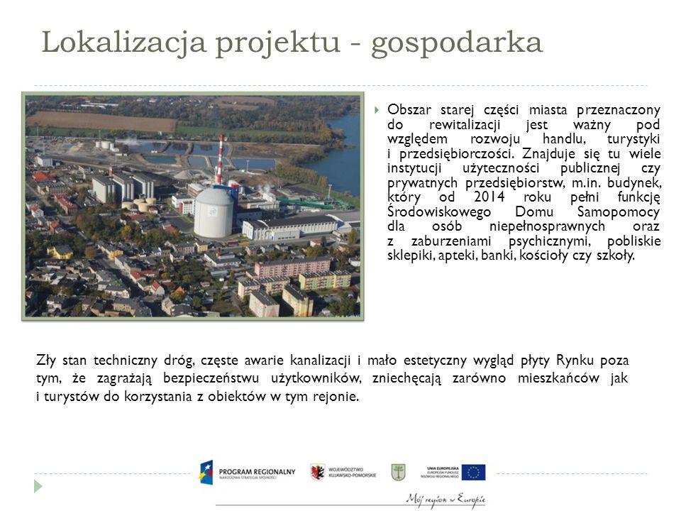 Geneza projektu  U źródeł projektu leżą problemy występujące na terenie Starego Miasta w Kruszwicy, obszaru charakteryzującego się wysokim stopniem degradacji przestrzeni.