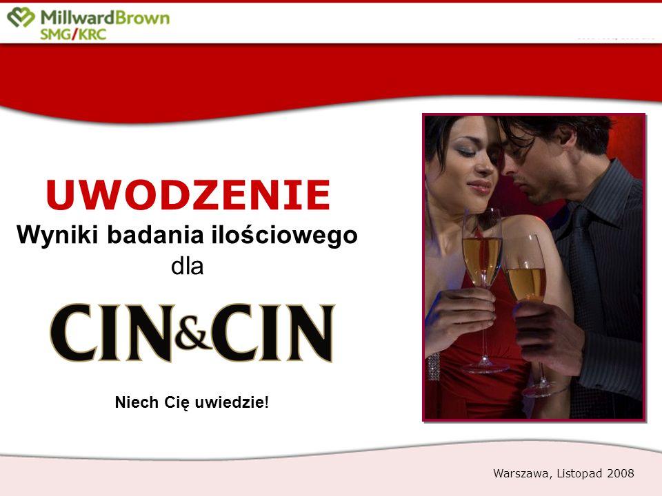 1 UWODZENIE Wyniki badania ilościowego dla Warszawa, Listopad 2008 Niech Cię uwiedzie!
