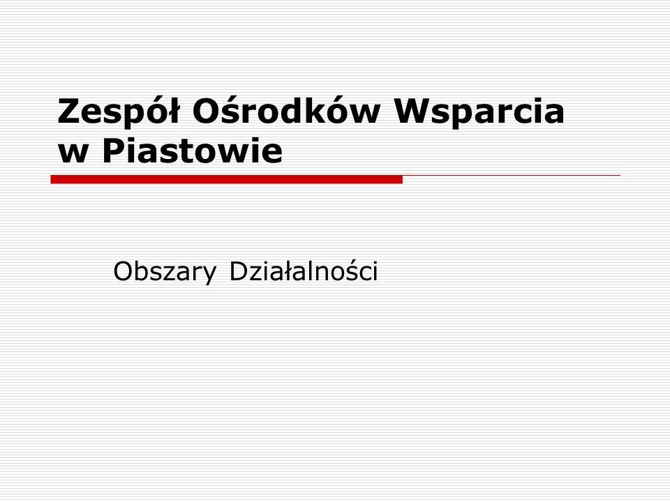 Zespół Ośrodków Wsparcia w Piastowie Obszary Działalności