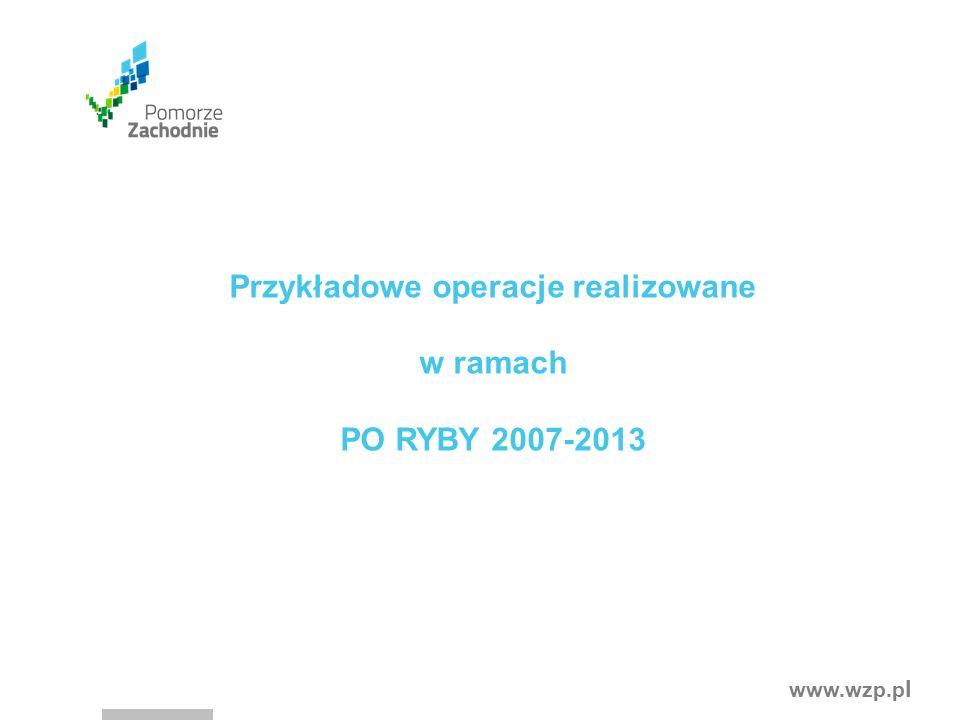www.wzp.p l Przykładowe operacje realizowane w ramach PO RYBY 2007-2013