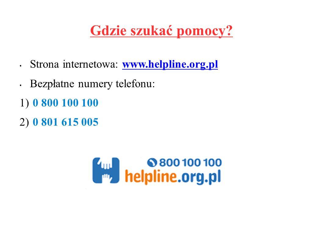 Gdzie szukać pomocy.