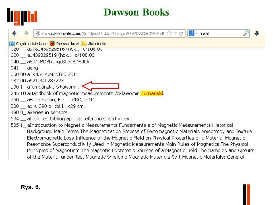 Dawson Books Rys. 6.