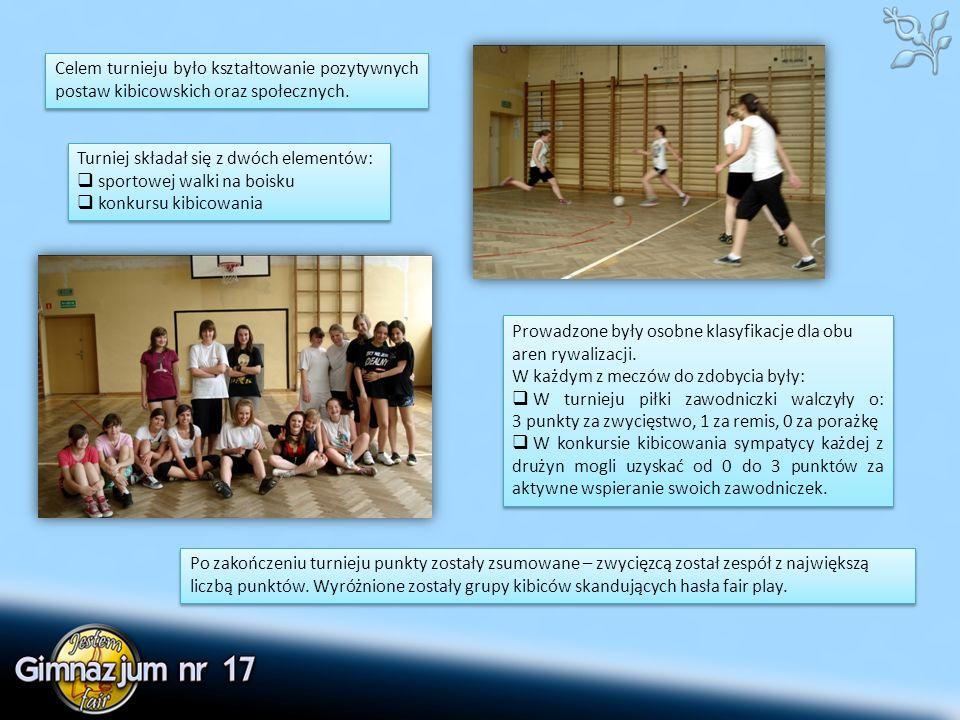Celem turnieju było kształtowanie pozytywnych postaw kibicowskich oraz społecznych.