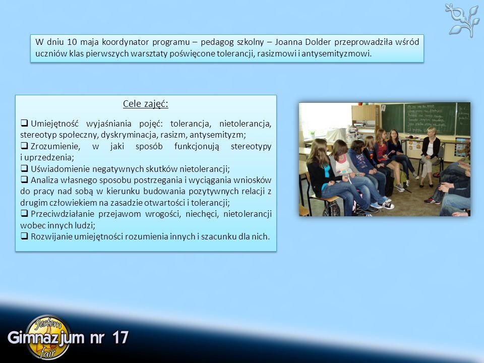Podczas lekcji wykorzystano metody aktywizujące uczniów: burza mózgów, prace w grupach dyskusyjnych, a także tekst piosenki Stanisława Sojki pt.