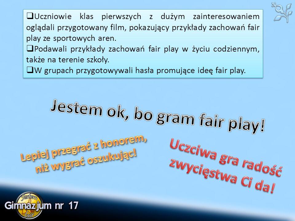 Do prezentacji załączamy regulaminy rozgrywek sportowych i konkursów towarzyszących, oraz przygotowany na potrzeby warsztatów film.