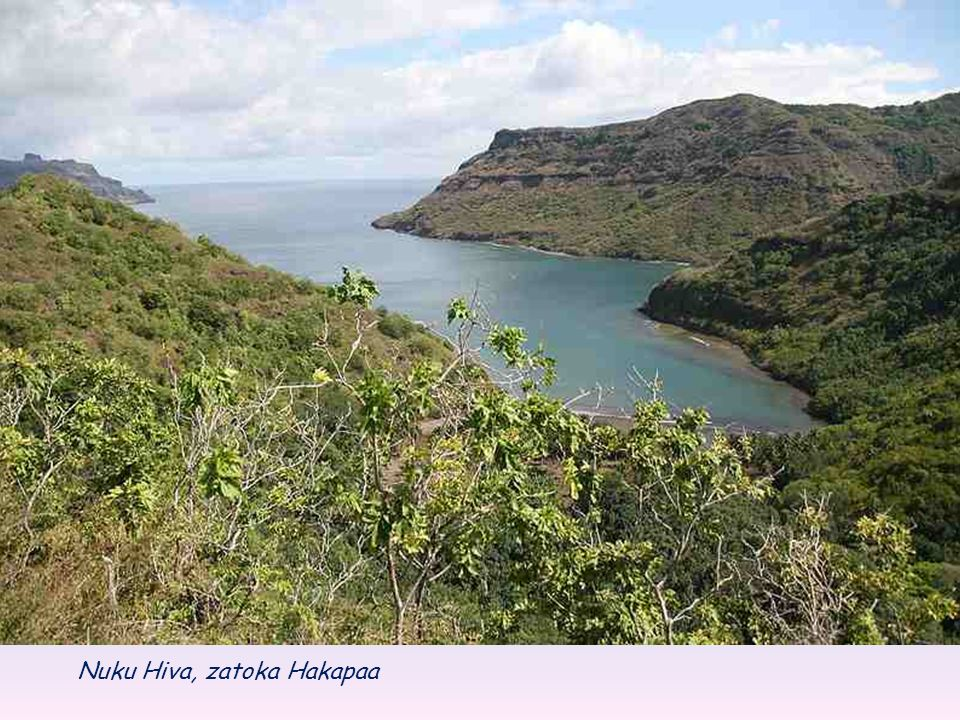 Hiva Oa (także Hiva Oa) - Powierzchnia wyspy wynosi 316 km².