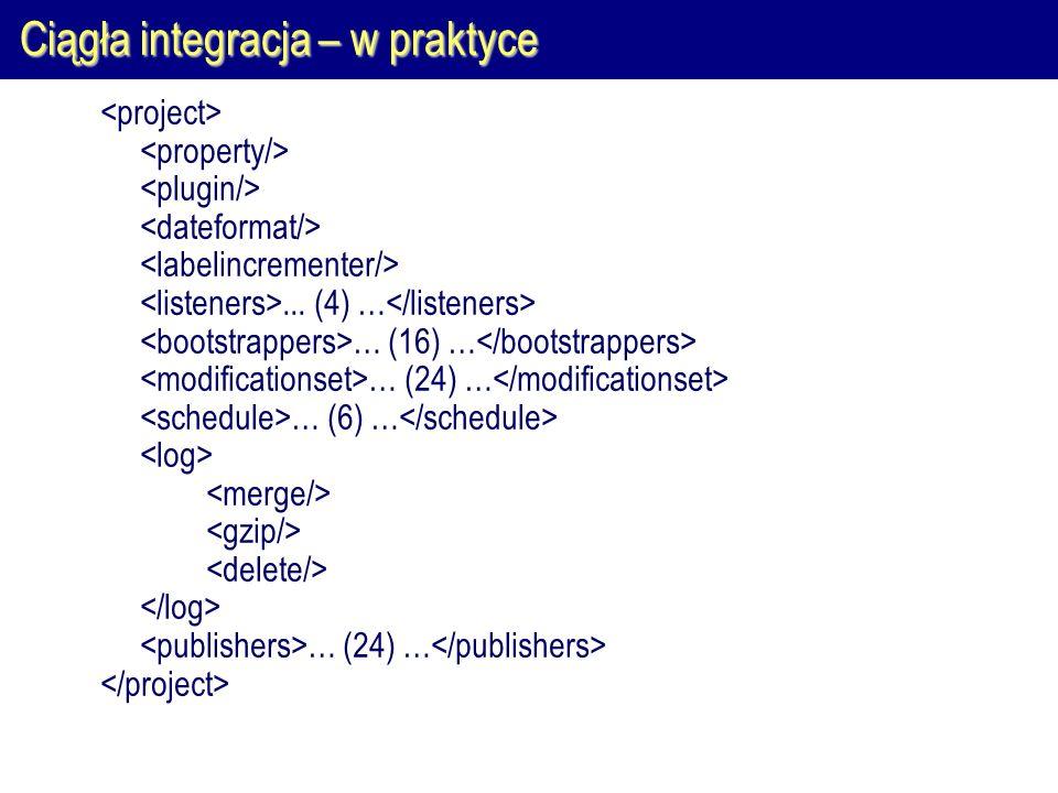Ciągła integracja – w praktyce... (4) … … (16) … … (24) … … (6) … … (24) …