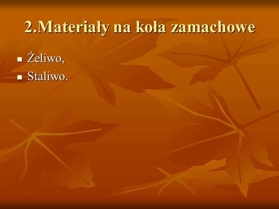 2.Materiały na koła zamachowe Żeliwo, Żeliwo, Staliwo. Staliwo.